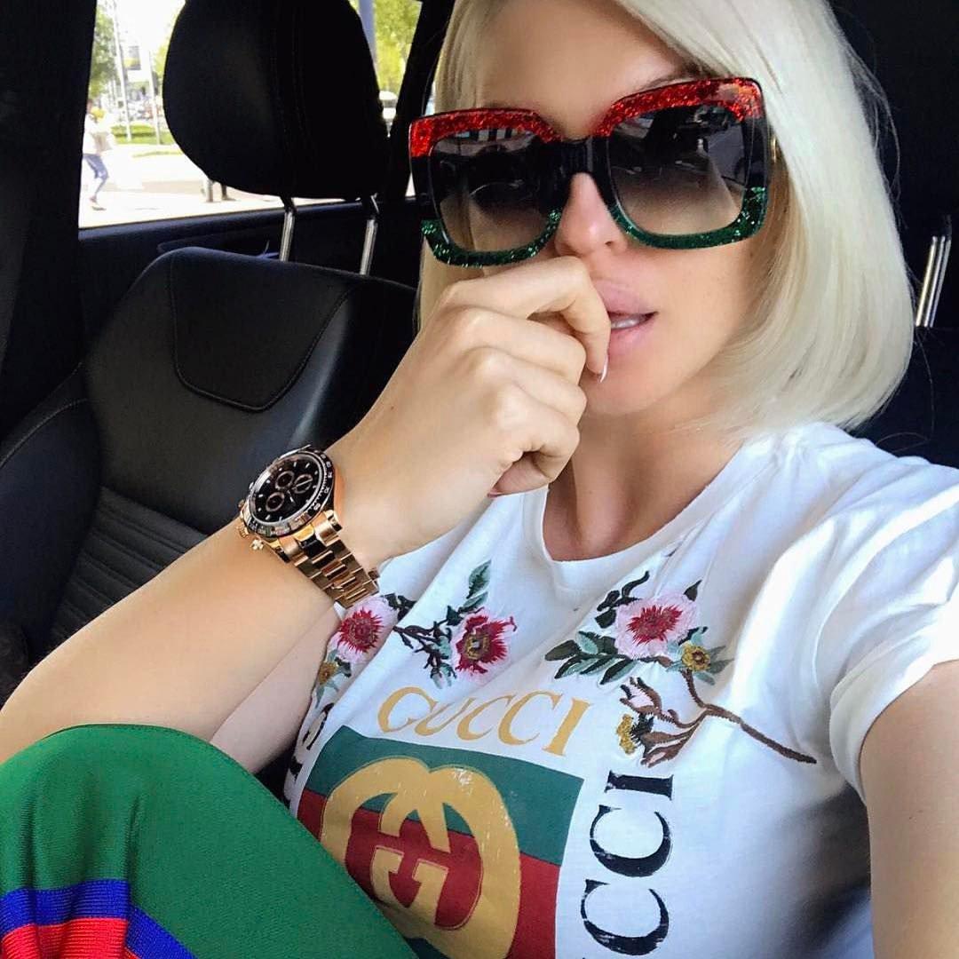 0f76221325d Gucci 0083S Oversized Square Glittered Sunglasses (3 Colors) — Designer  Daydream