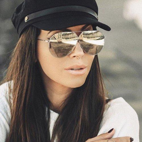 5dafaf954e0f Dior Stellaire 3 Mirrored Oversized Aviator Sunglasses ...