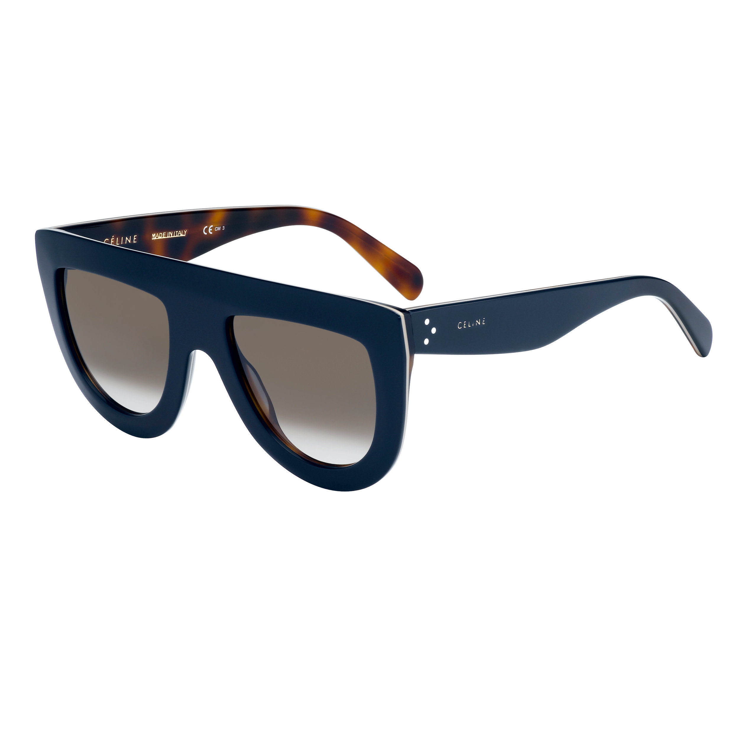 fc6a03c938 Celine Andrea Oversized Flat Top Sunglasses in Navy. cl41398s 273z3 (1).jpg