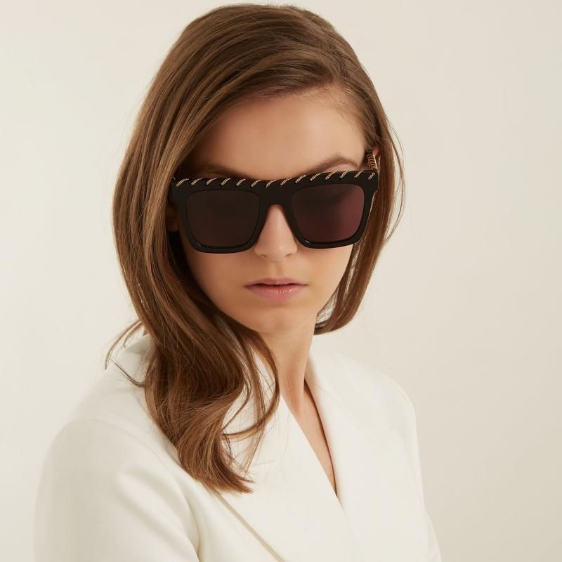 b84893f55477 Stella McCartney 0128S Falabella Chain Sunglasses — Designer Daydream