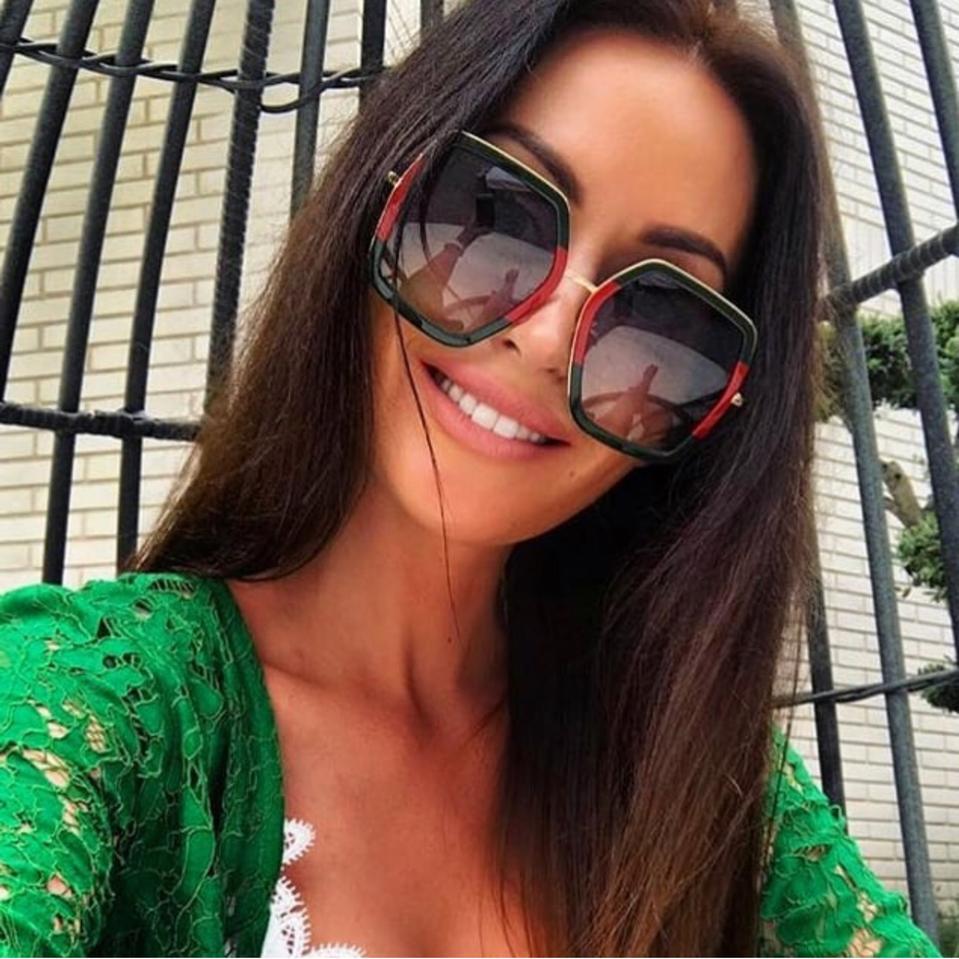 bed576dd3 Gucci 0106S Oversized Geometric Sunglasses (3 Colors) — Designer Daydream