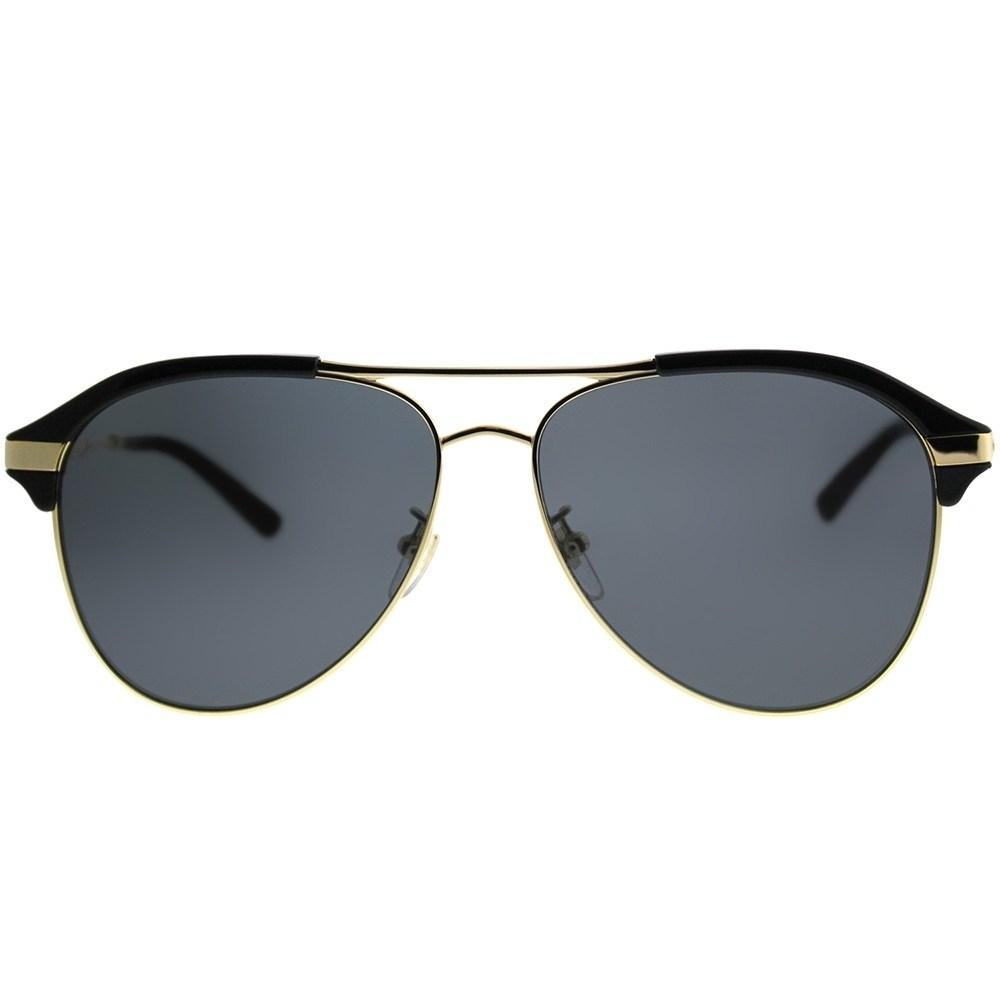 c8a272ae06 Gucci 0288SA Black Aviator Unisex Sunglasses — Designer Daydream