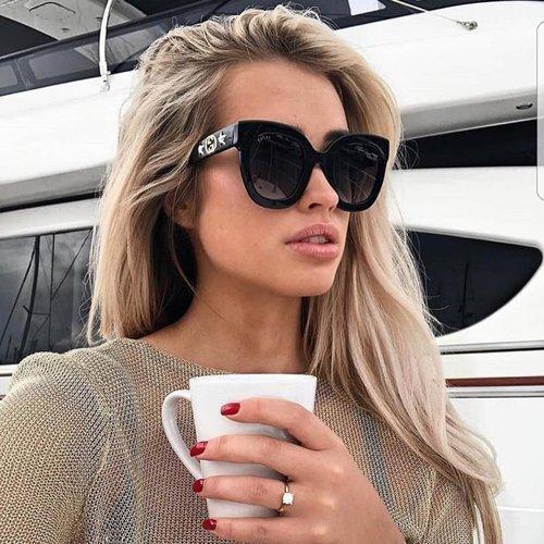 c9a6d9c95f Gucci 0208S Cat Eye Crystal Star Leg Oversized Sunglasses (2 Colors) ...