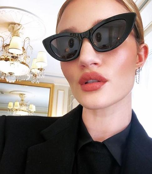 7ee6fc1b4b Saint Laurent Lily SL 213 Cat Eye Sunglasses in Black — Designer Daydream