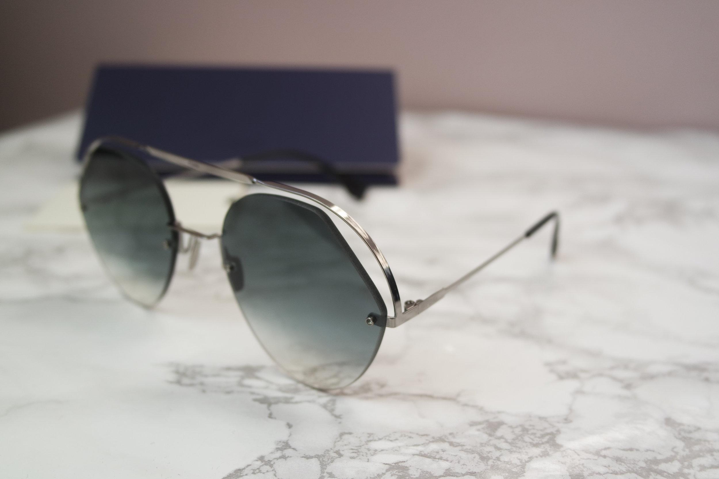 5e272fcae523 Fendi 0326 Ribbons and Crystals Aviator Cutout Sunglasses (4 Colors ...