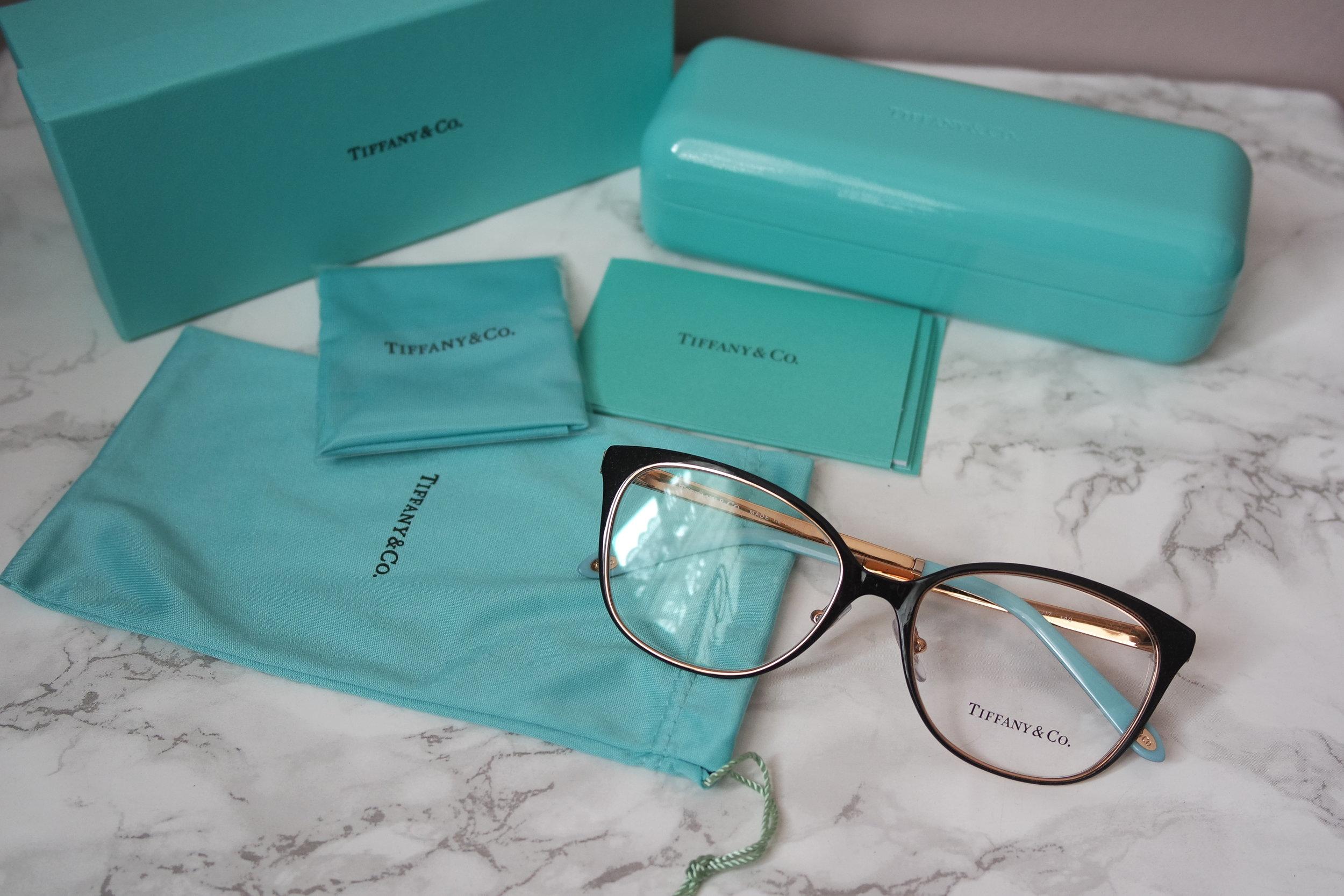 18b9d7bb6e14 Tiffany Co TF1130 Black Oversized Gold Metal Eyeglasses Frames. SAM 2851.JPG