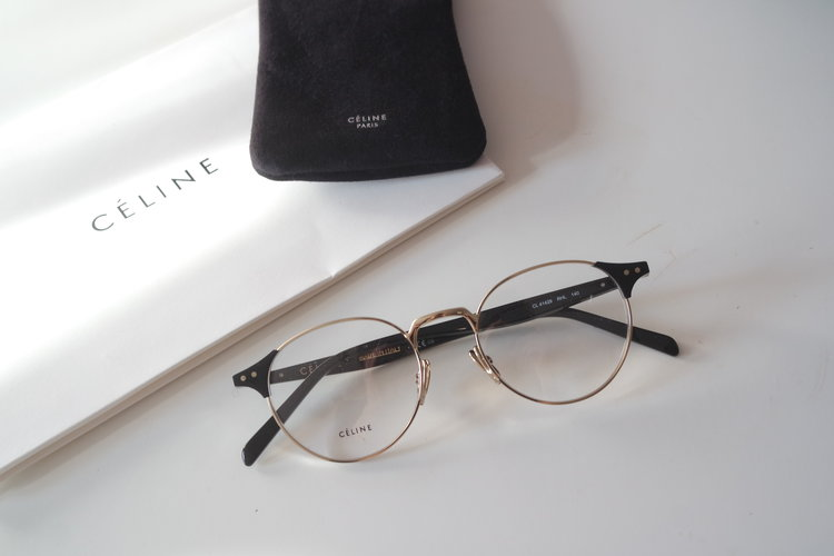 375269c461 Celine 41429 Gold Metal Round Eyeglasses Frames ...