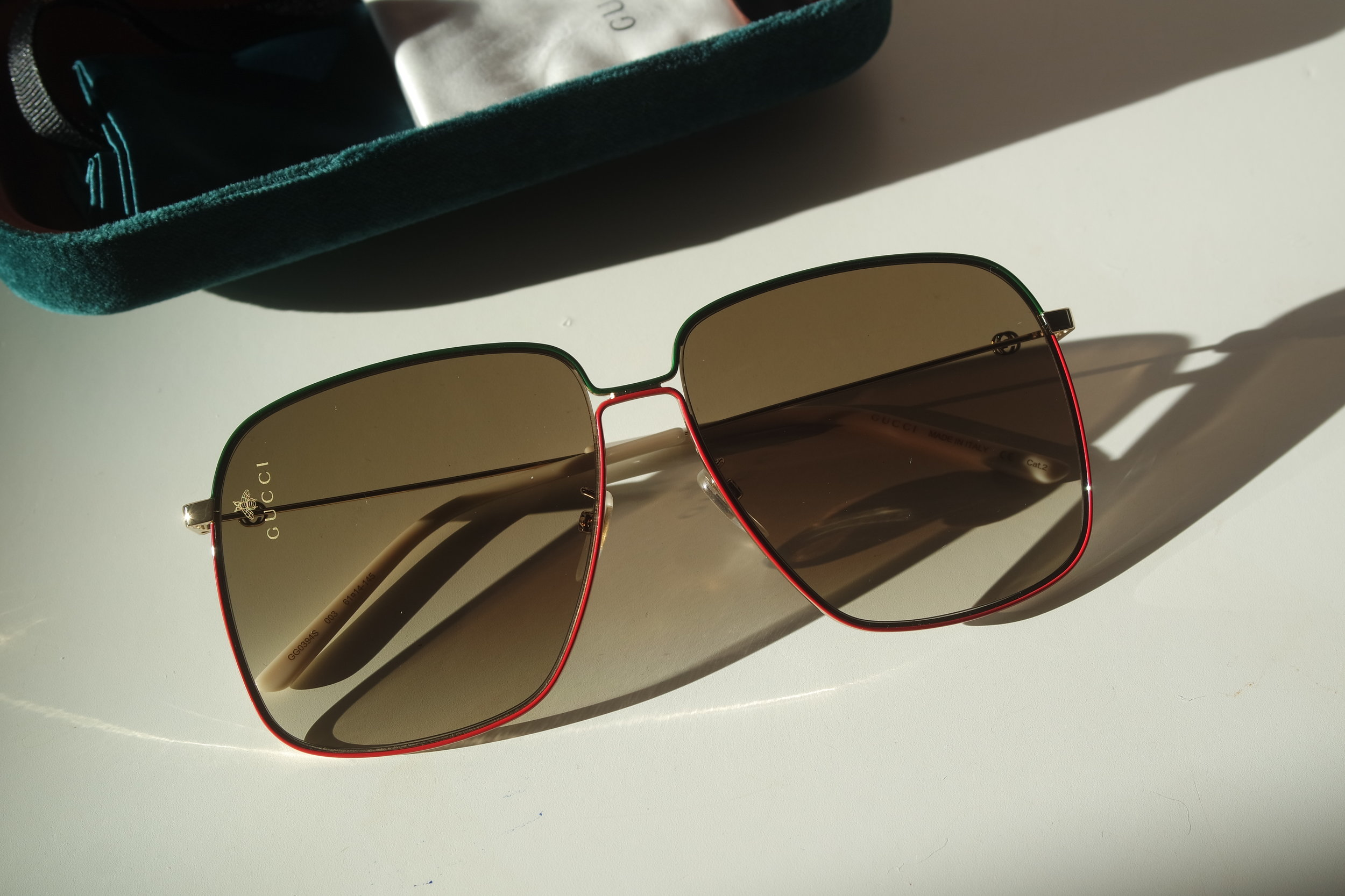 49248c88f01 Gucci GG0394S Oversized Square Bee Logo Sunglasses (3 Colors) — Designer  Daydream