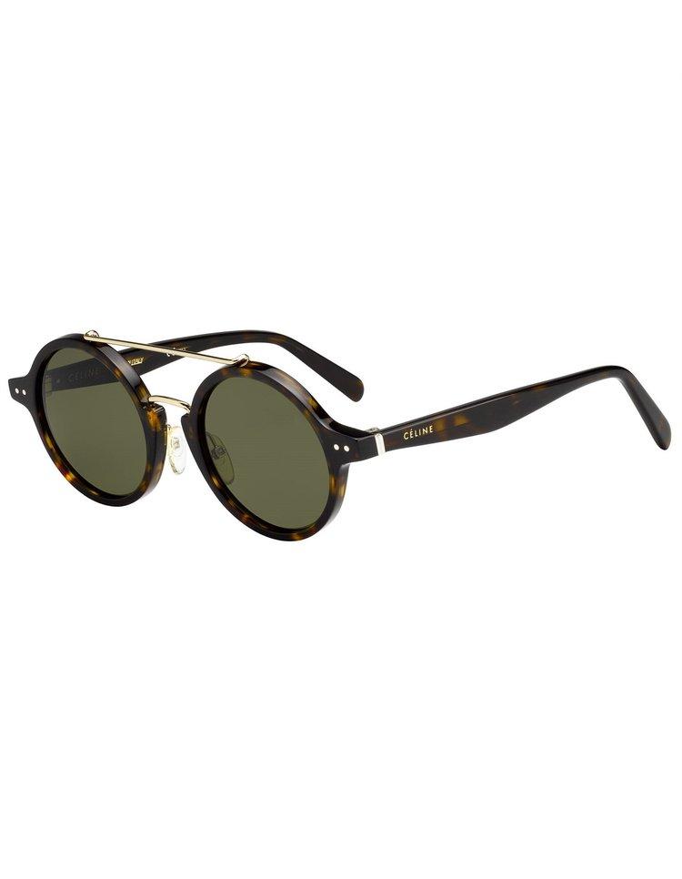 2436200d75 Celine 41442 Round Metal Double Bridge Sunglasses (2 Colors) ...