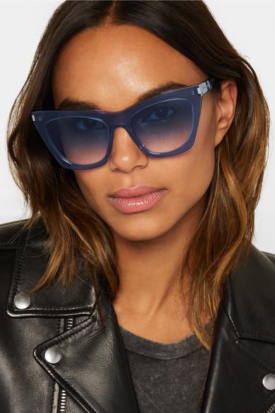 cb9b1e0c7 Saint Laurent Kate SL 214 Oversized Cat Eye Sunglasses (3 Colors) —  Designer Daydream