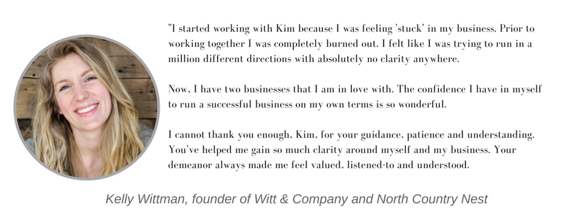 business coaching testimonial