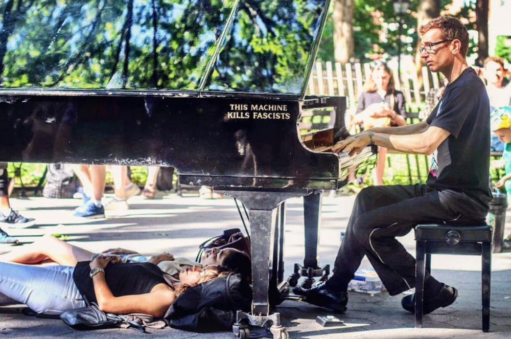 """Photo cred: dannydalypix; The """"Piano Guy"""" can be found on Instagram @colinhuggins.nyc"""