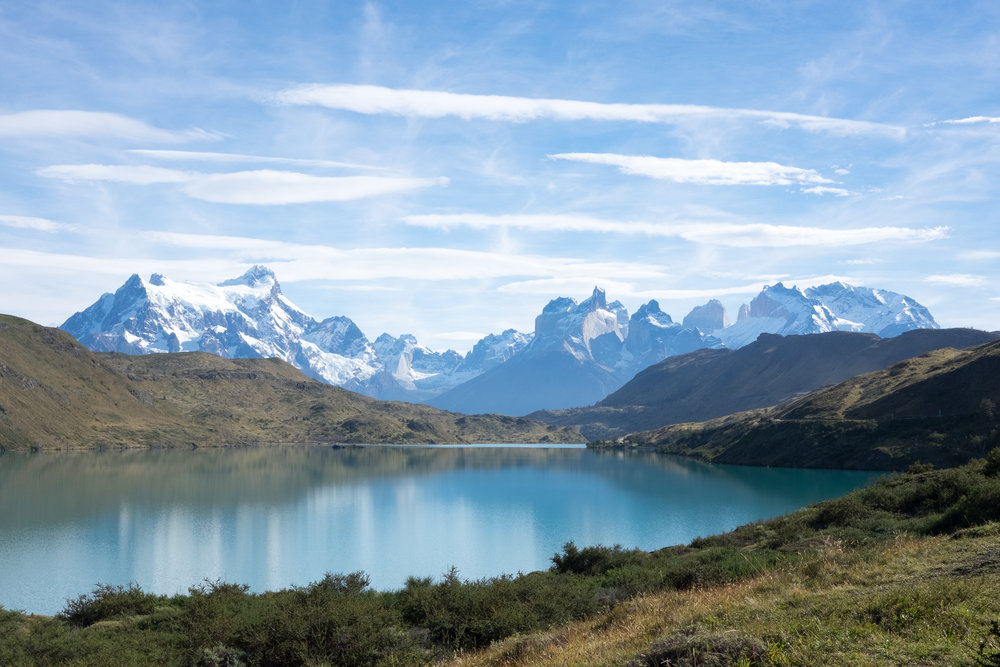 The Torres del Paine peaks