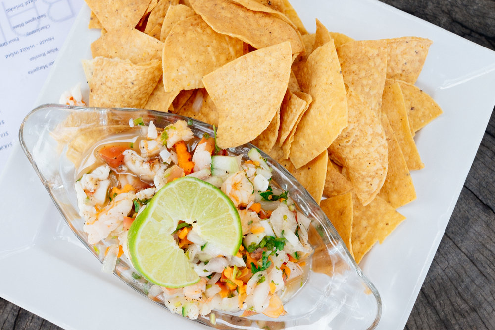Fresh catch ceviche at The Dive Bar