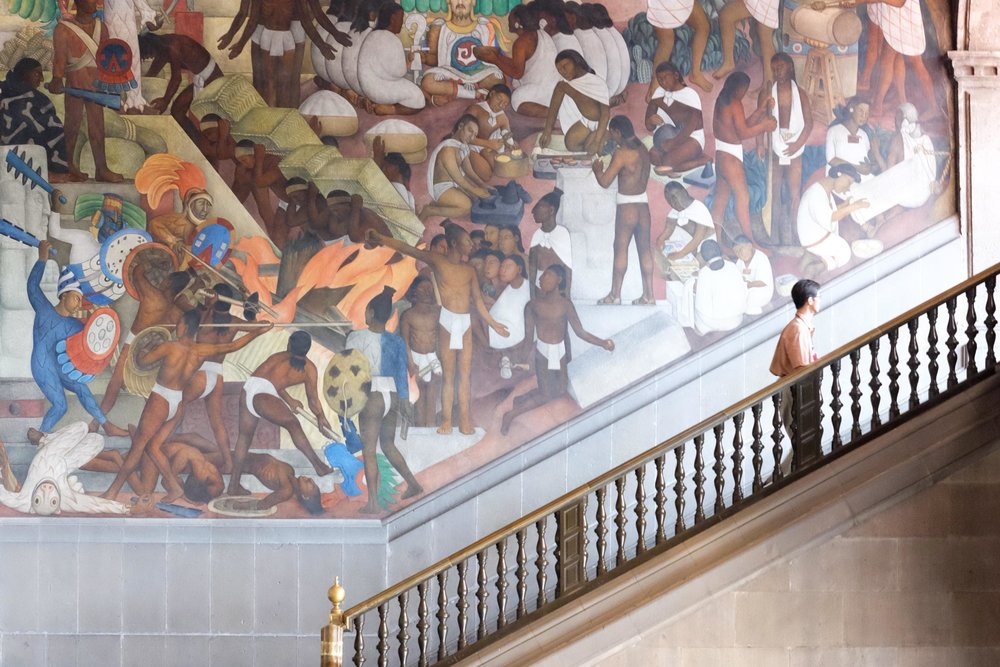 Diego Rivera murals at the National Palace
