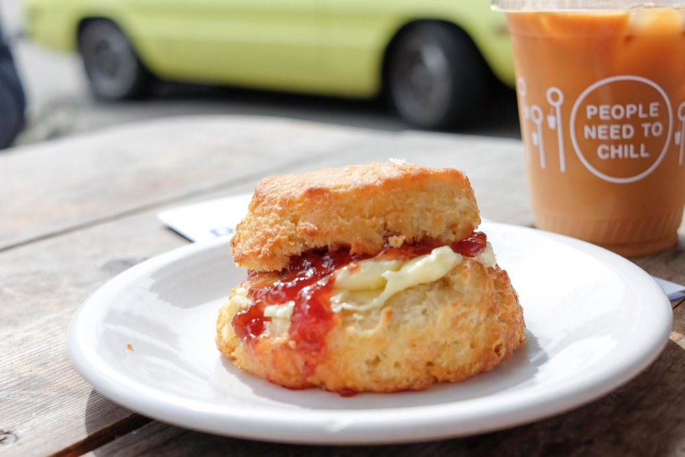 Loaded buttermilk biscuit at Tandem Coffee + Bakery