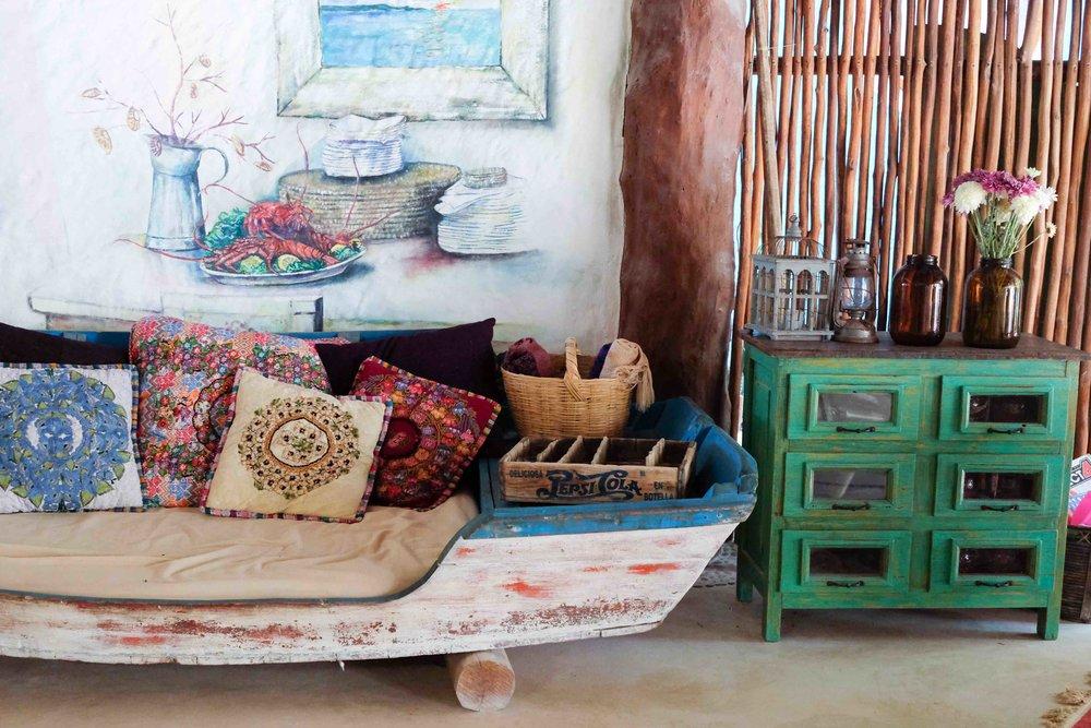 Casa Las Tortugas lounge area