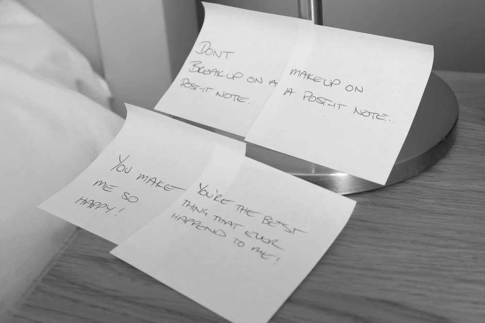 Don't Break Up on a Post-it Note – Make Up with Love Notes!