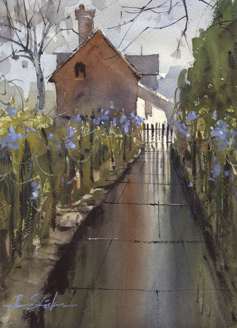 RonStocke_TheEnglishGarden_14x10_watercolor_700.jpg