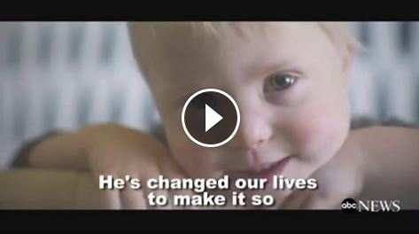 "POWERFUL MESSAGE: Mom of 3-year-old boy with Down syndrome says, ""I don't want people to feel bad for him...he's changed our lives to make it so the focus of every day is just joy and happiness."""