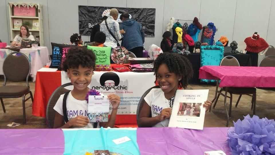 Saniya and her business partner, Kamryn host a kidpreneur seminar at the 1st Annual Mocha Kid Expo in Houston, Texas.