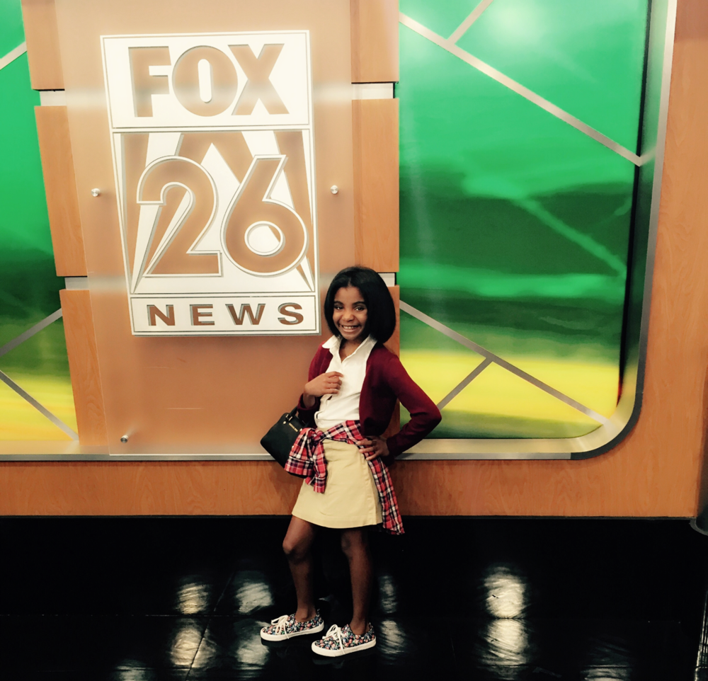 Everyone deserves to go back to school in style. Saniya models for this year's Back to School segment for Fashion Stylist, Ashley Dunn.