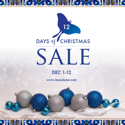 12 Days of Christmas sale Dec 1 - 12