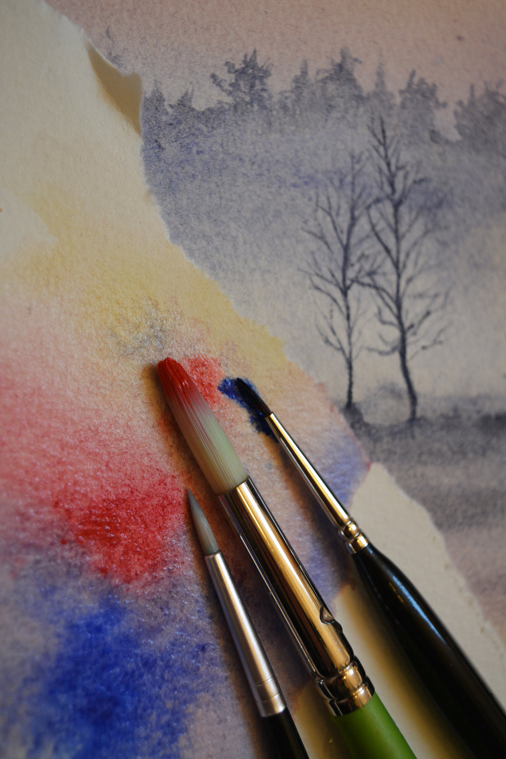 Watercolours & Inks