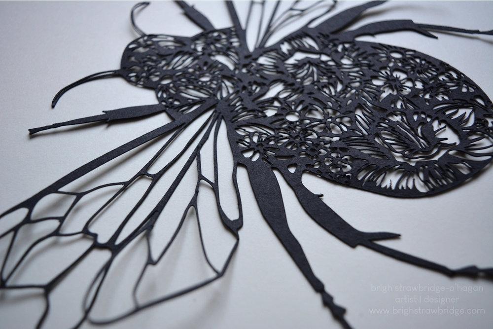 Bumble Bee | Paper Cut Design 28cm x 18cm.