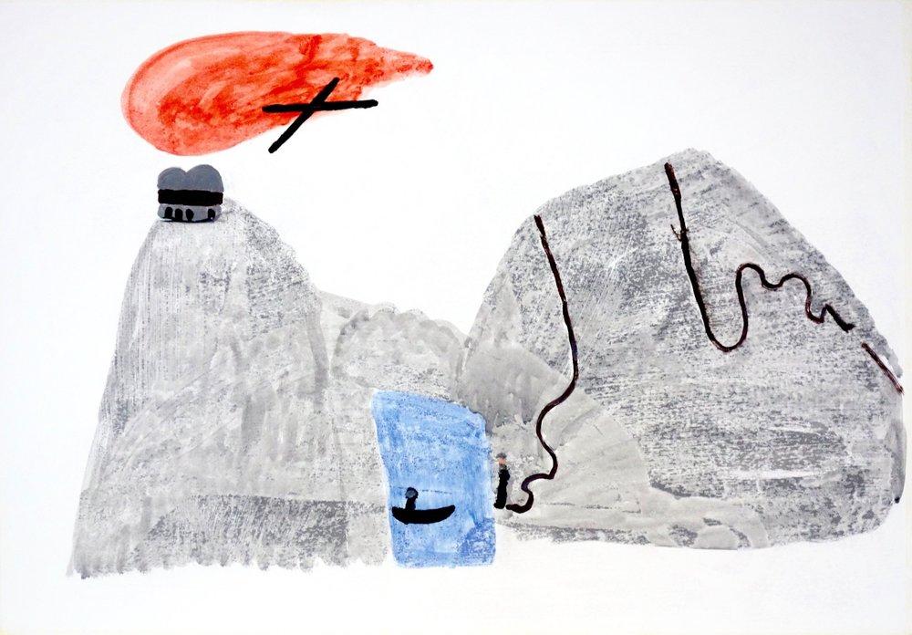 Tor Alexander Janicki,Studie nach einer Skizze von Rudolf Steiner,Malerverksted 2015