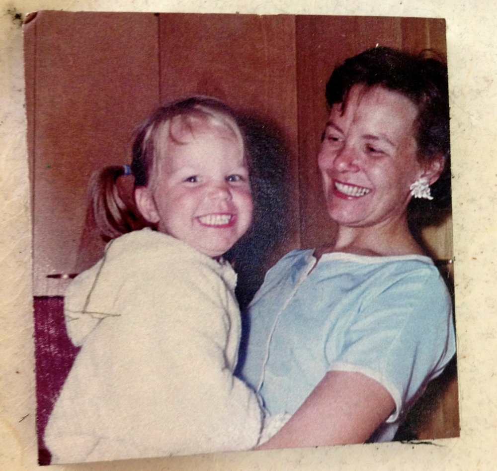 The author with her mother.