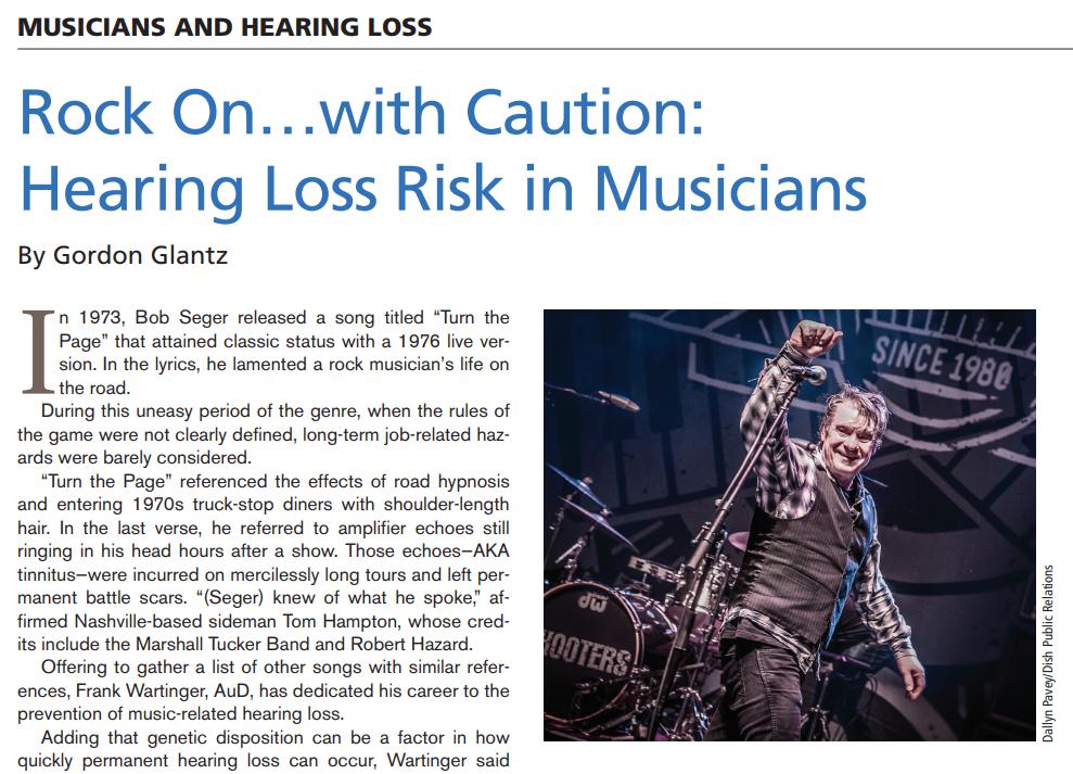 Hearing journal - musician hearing article Frank wartinger
