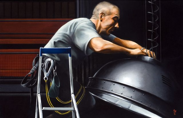 Copy (2) of Dave Skelly, Chief Electrician, Donmar, oil, 44x66.jpg