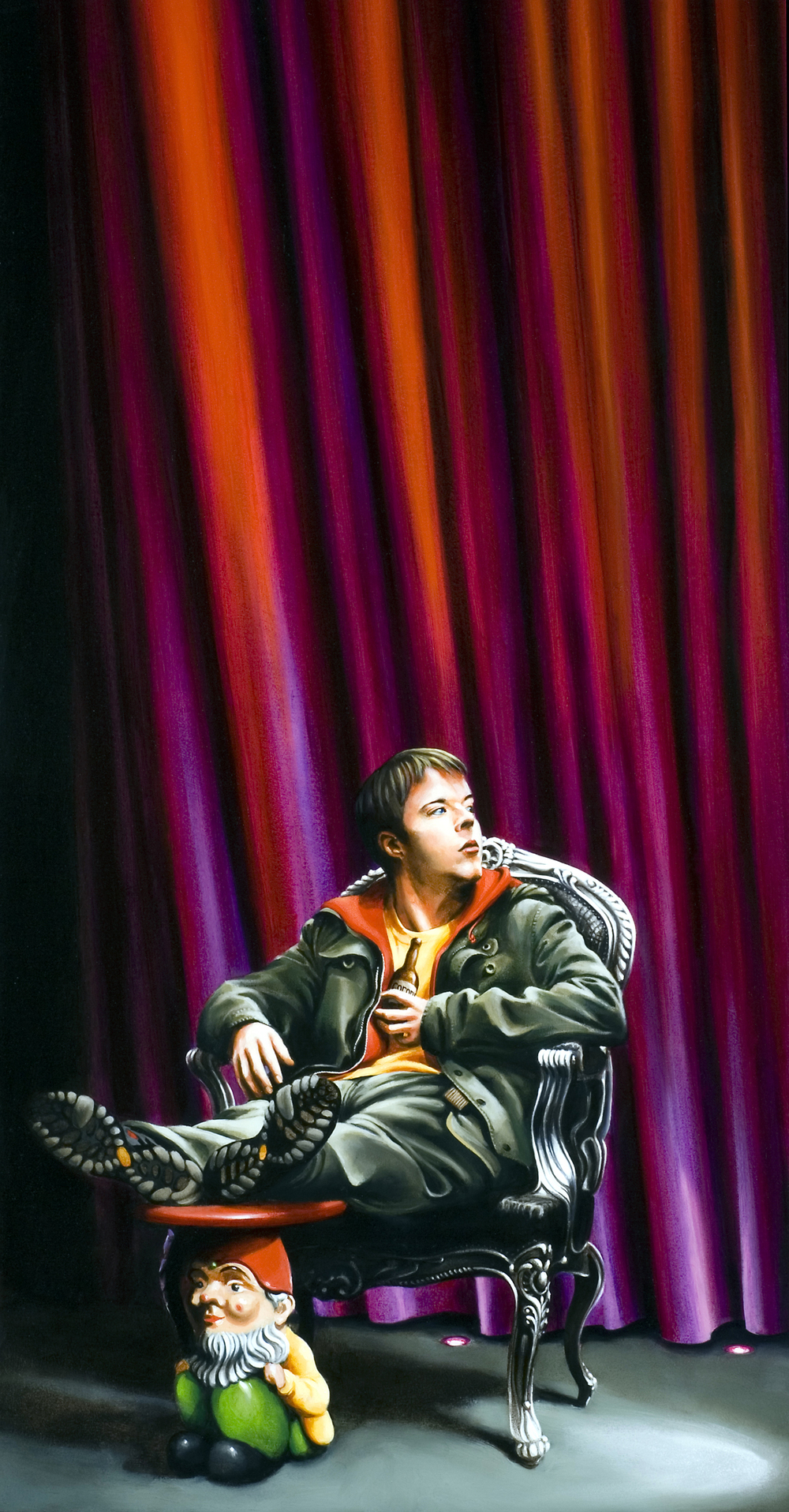 Don Juan In Soho, Donmar, oil 91.5 x 48.jpg