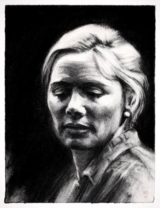 Kim Cattrall. The Cryptogram. Charcoal2.jpg