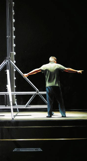 Lighting Engineer, Apollo Theatre. Oil, 100 x 64.jpg