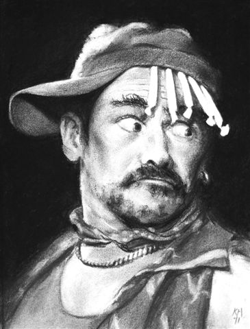 Mark Rylance, Jerusalem, Apollo, charcoal, 38 x 28.jpg