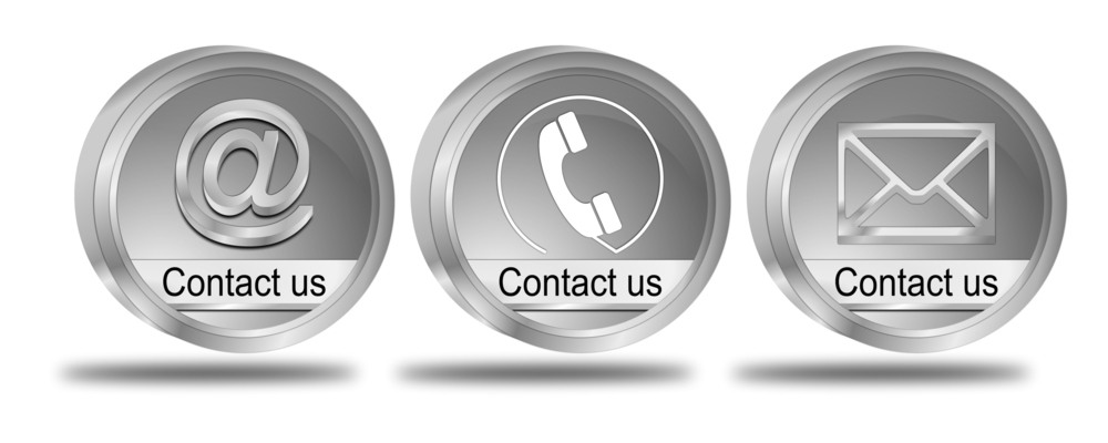Contact Us by Website/Email/Telephone/Twitter