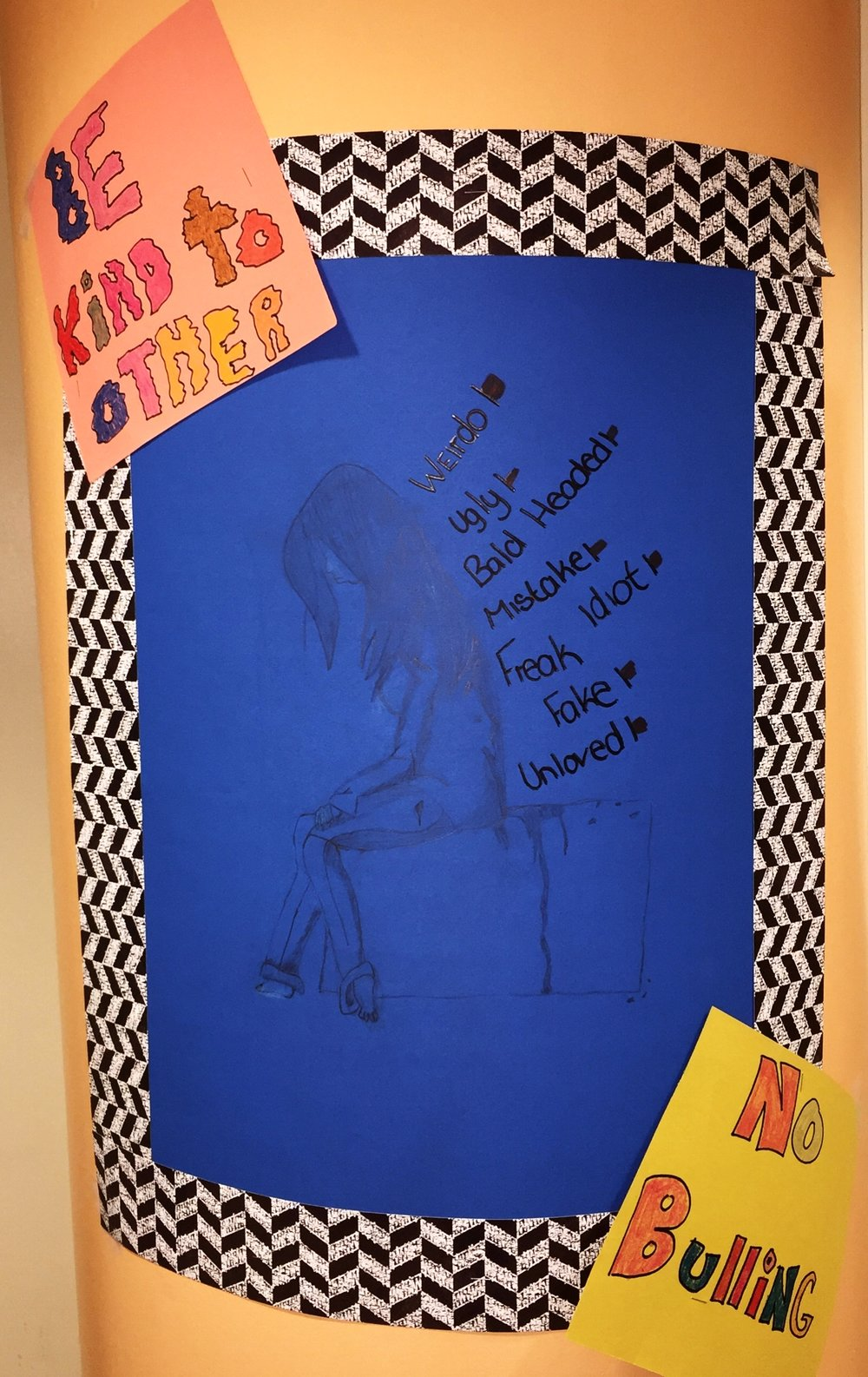 6th and 7th grade bullying prevention poster