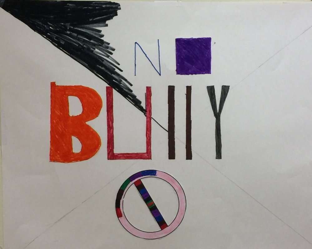 7th grade student bully prevention poster