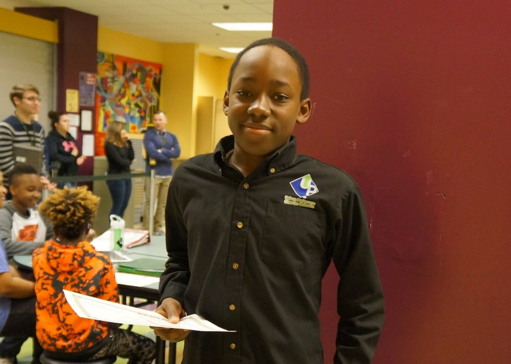 Urban Pathways middle school honors
