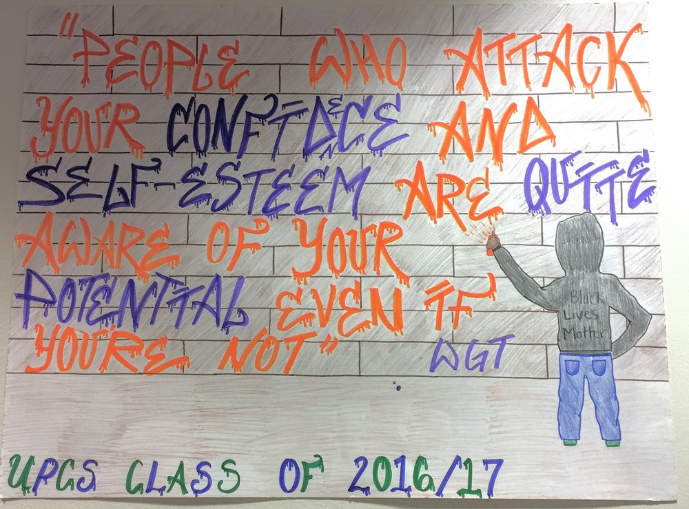 Winning Anti-Bullying Poster by Kierra Mitchell
