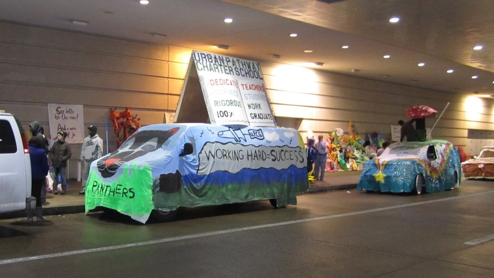 Urban Pathways Charter School First Night 2010 parade float