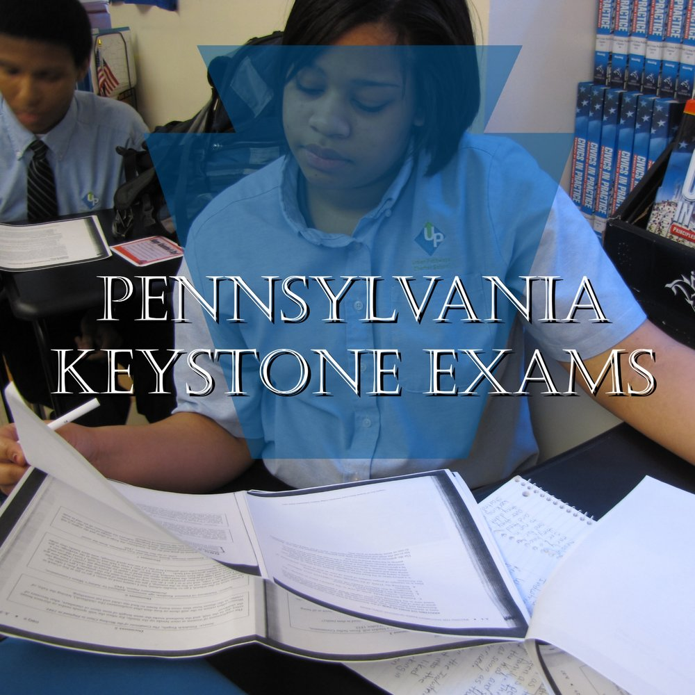 Pennsylvania Keystone Exams - Student taking a practice test