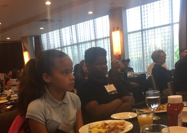 UPCS 6-12 students at the YMCA Achievers breakfast