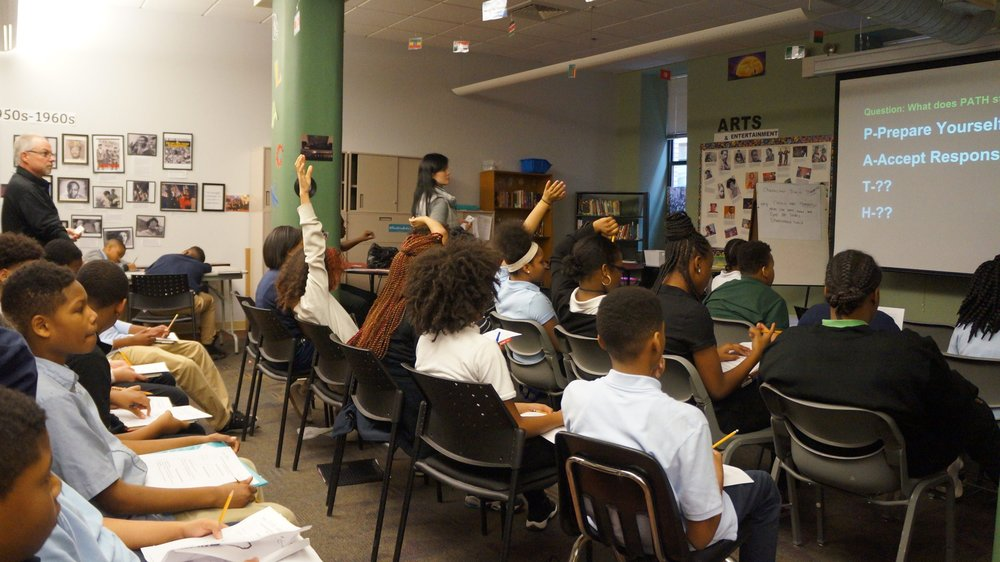 Urban Pathways 7th grade reviews the P.A.T.H.