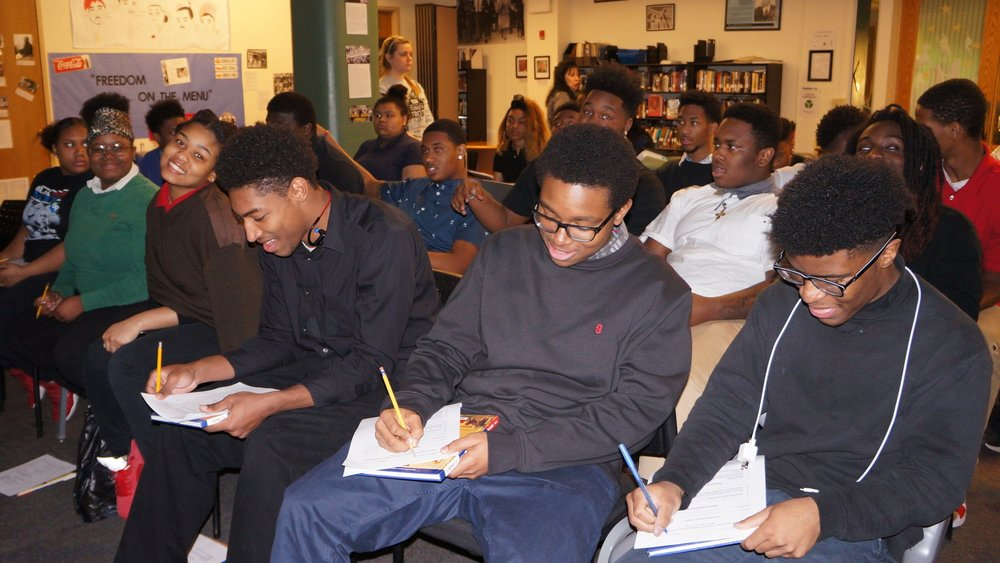 11th grade at Urban Pathways 6-12 practices positive behavior and respect