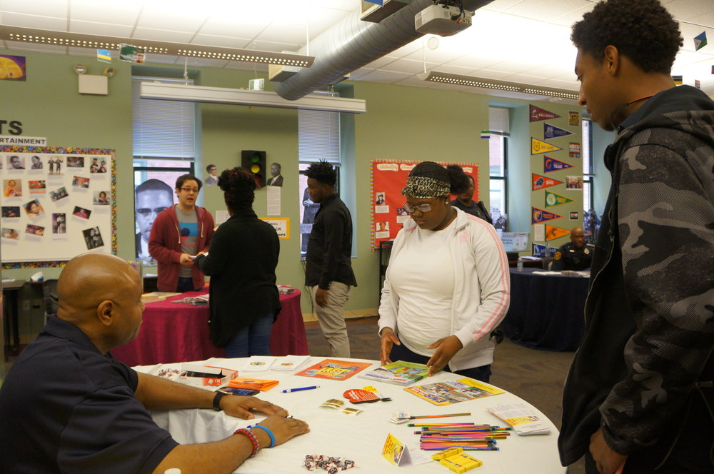 Urban Pathways students learn about police and EMS services