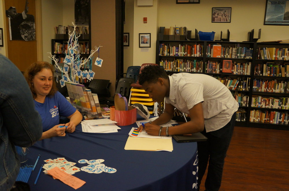 UP 6-12 students learn about Highmark Caring Place programs at the school health fair