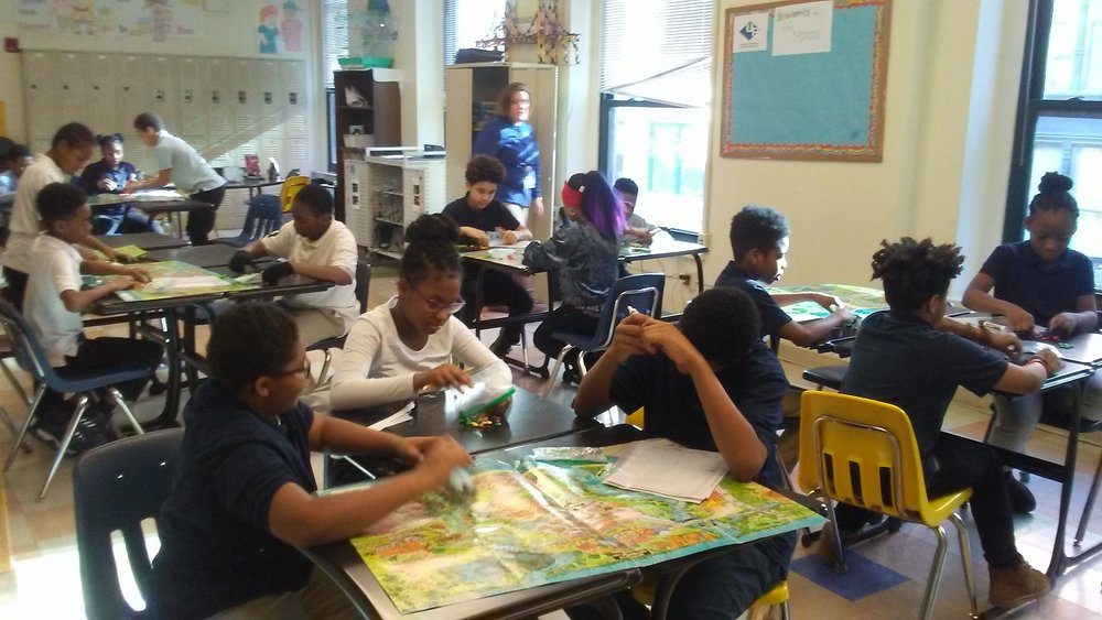ALCOSAN presents a lesson to Urban Pathways 6th grade students